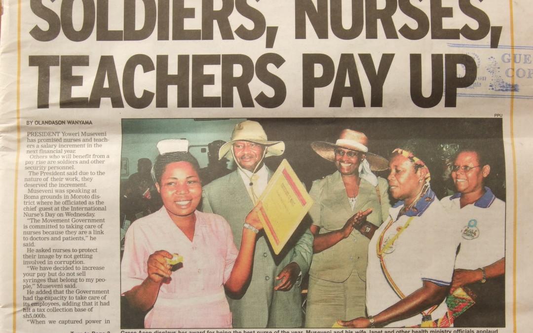 Uganda's president supports nurses