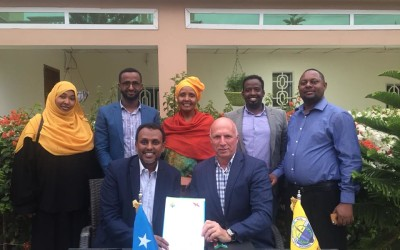 Collaborative agreement signed between V-consult and Mogadishu University.